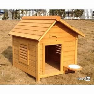 Cabane Pour Chien : niche chien avec gamelle abri chien cabane top 13c ~ Melissatoandfro.com Idées de Décoration