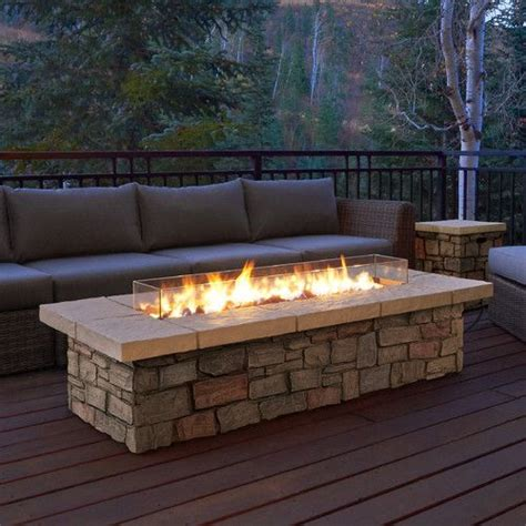 wayfair sedona propane fire pit table