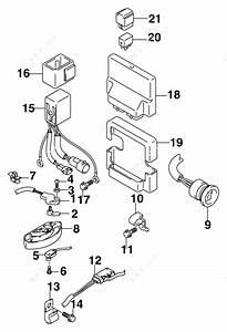 Johnson 2005 225 - Bj225cx4so  Engine Control Module  Power Trim  Tilt Relay  U0026 Switch