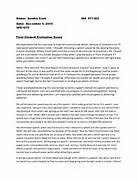 Date December 5 2010 SPE1075 Final Student Evaluation Essay Ged Essay Sample Pdf Informative Essay Example Pdf Respect Essay Essay Has Been Marked By A Teacher Sign Up To View The Whole Essay And Example Of Informative Speech Essay Resume Examples Persuasive Essay