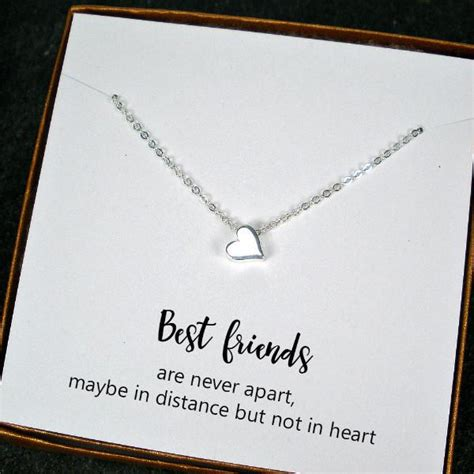 friend present can be best friend gift minimal bead charm necklace Best