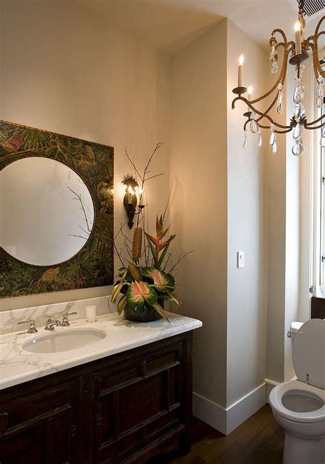 powder room mirror powder room summer trend 25 dashing powder rooms with tropical flair