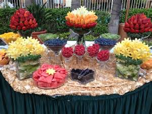 Fruit Buffet Table Centerpieces