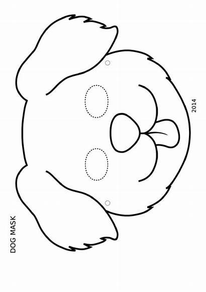 Mask Dog Coloring Template Pdf Printable
