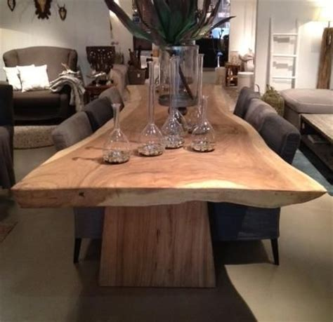 boomstam tafel outdoor pinterest design