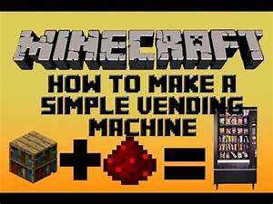 Minecraft Redstone Tutorial: How To Make A Simple Vending ...