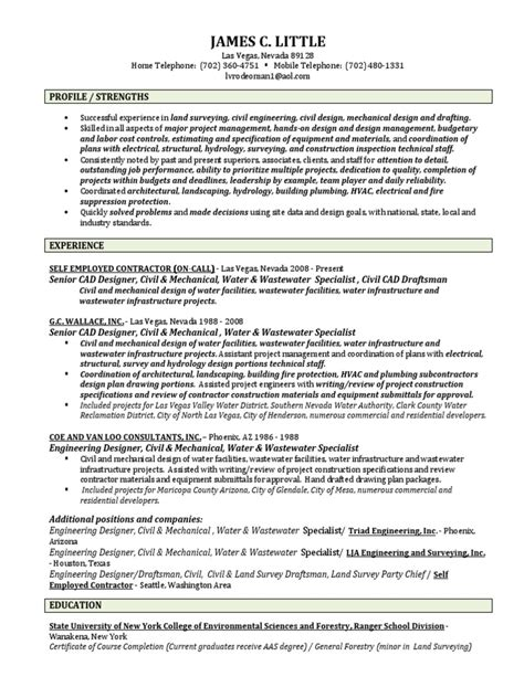 mechanical draftsman cover letter sle cover letter for