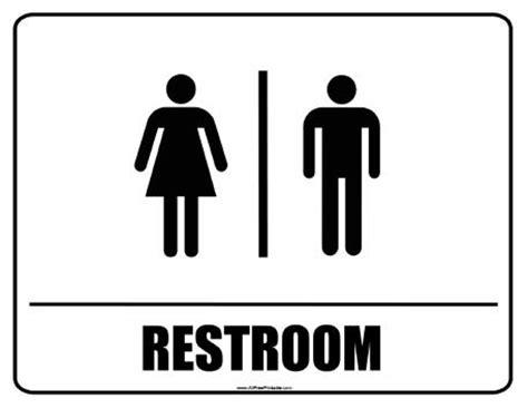 Restroom Signs  Free Printable Allfreeprintablem