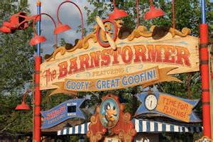 Barnstormer Roller Coaster at Disney