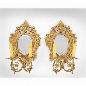 Pair, Of, Vintage, Brass, Mirrored, Sconces, With, Two, Lights, From, Piatik, On, Ruby, Lane