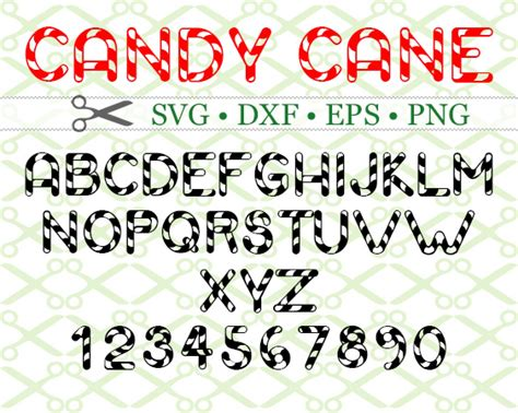 All clipart images are guaranteed to be free. CANDY CANE SVG FONT-Cricut & Silhouette Files SVG DXF EPS ...