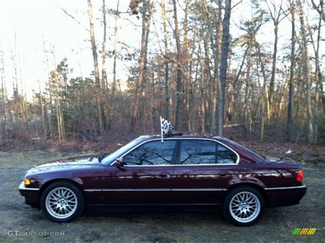 Royal Red Metallic 2000 Bmw 7 Series 740i Sedan Exterior