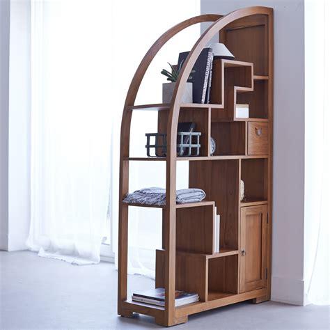 solid wood modern bookcase tikamoon solid teak wood bookcase bookshelf modern