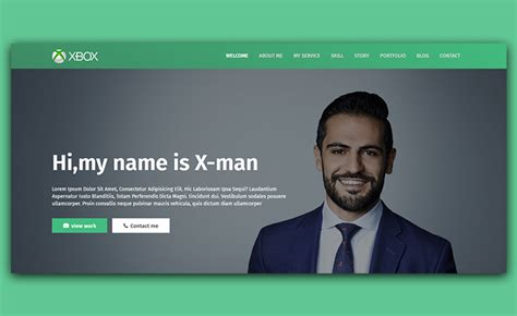 Free Personal Website Templates X Free Personal Website Template For Crafting Cv
