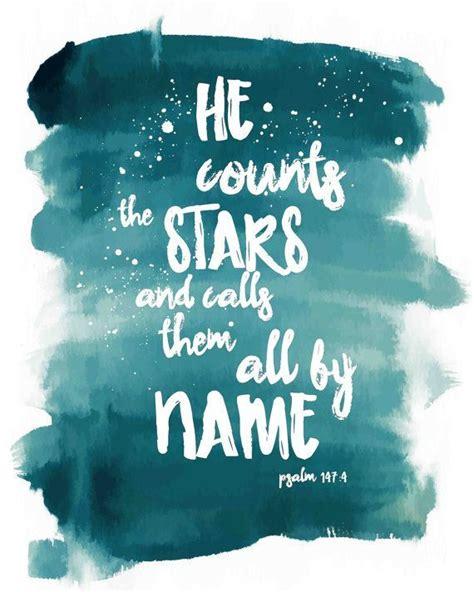 bible verse art printable psalm   counts  stars  calls     scripture