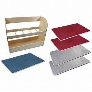 Teppich Grau Blau : teppich set inkl st nder rot blau grau montessori lernshop ~ Indierocktalk.com Haus und Dekorationen