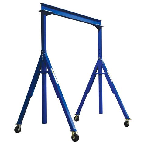 vestil 6 000 lb 10 ft x 16 ft adjustable height steel gantry crane ahs 6 10 16 the home depot