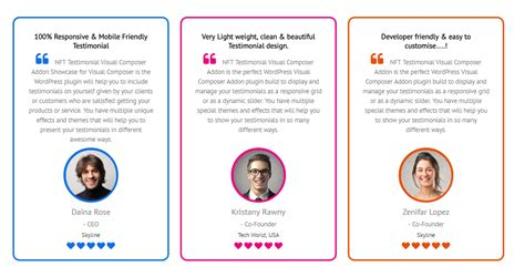 Testimonials Showcase For Visual Composer Add On By