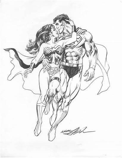 Superman Wonder Woman Coloring Pages Wonderwoman Adams