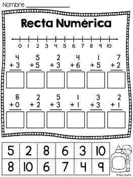 Rectas Numéricas  Worksheets, Spanish And Math