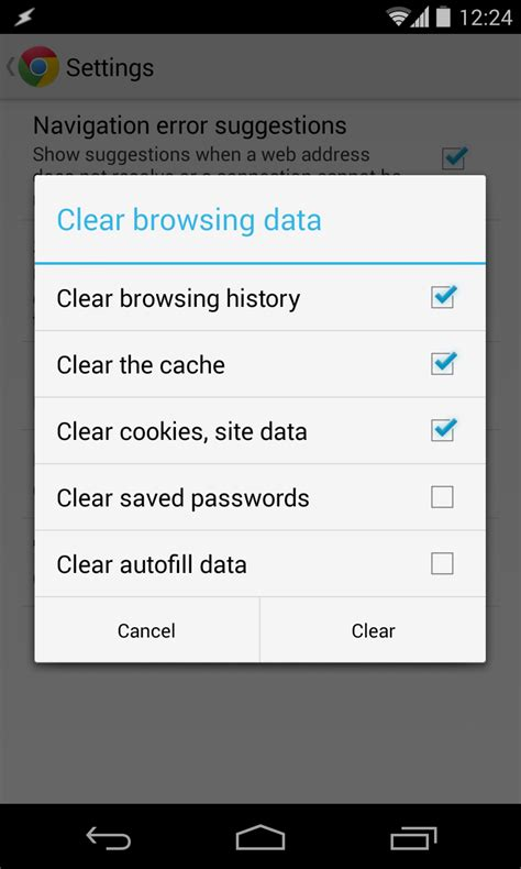 clear cache android samsung galaxy samsung galaxy s 3 clear stock browser cache android