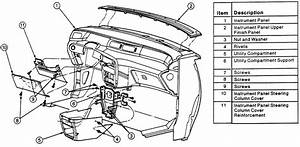 1995 Ford Windstar Dash Removal Diagram Column Shiffter Cable