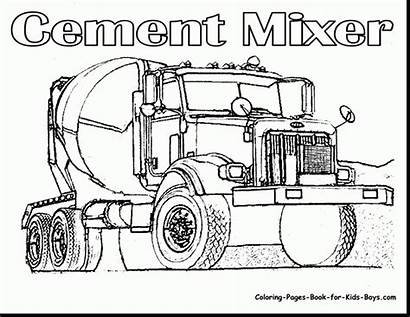 Semi Truck Line Drawing Coloring Pages Getdrawings