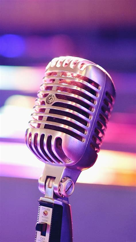 aesthetic microphone closeup iphone wallpapers vintage