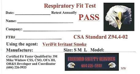 qualitative fit test  respirator  mainland