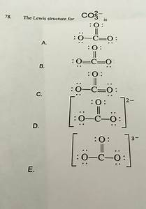 Co3 2-lewis Dot Structure Co32- Lewis Structure