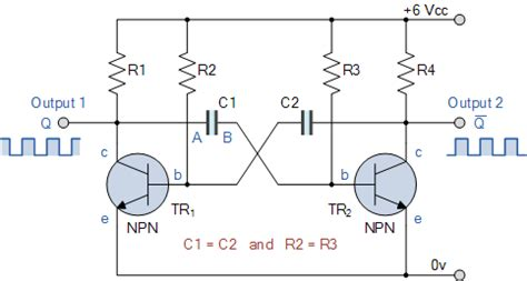 Electronics Tutorial About The Astable Multivibrator