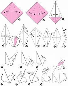 Origami Animaux Facile Gratuit : origami lapin ~ Dode.kayakingforconservation.com Idées de Décoration