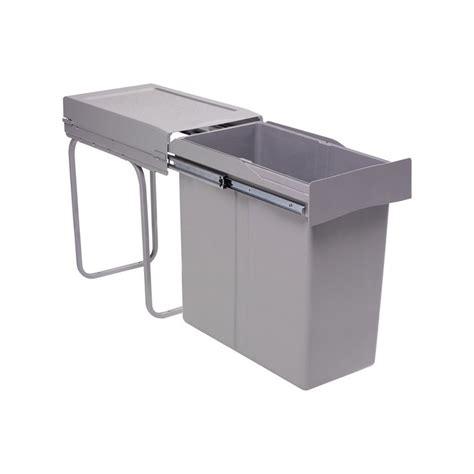 poubelle encastrable coulissante 1 bac 40 litres