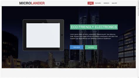 microlander responsive landing page  images