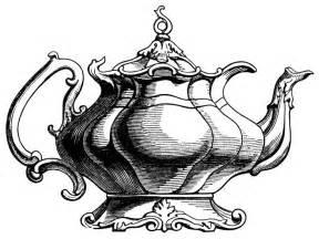Clip Art Victorian Tea Pot Clipart