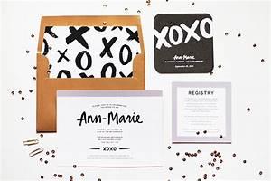 Ann marie39s modern hand lettered bridal shower invitations for Hand lettered invitations