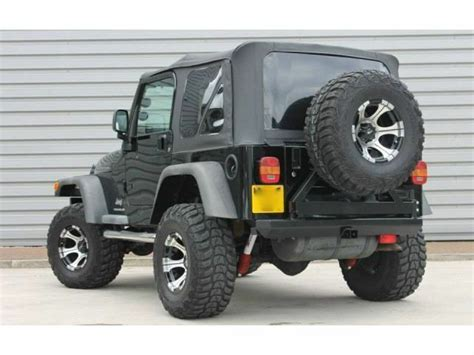 1997 2006 jeep wrangler tj replacement black soft top and rear tinted windows ebay