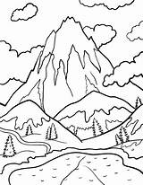 Coloring Mountains Andes Mountain 94kb 507px Drawings sketch template