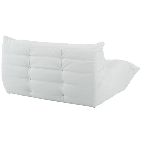 Downlow Loveseat by Downlow 5 White Leather Sectional Advanced