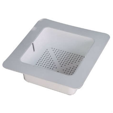 commercial 8 1 2 quot square floor sink basket w flange