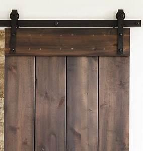 639 hand hammered barn door track kit width 71quot height 2 With barn door hardware weight limit