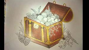 Johanna Basford Enchanted Forest Treasure Chest Painting