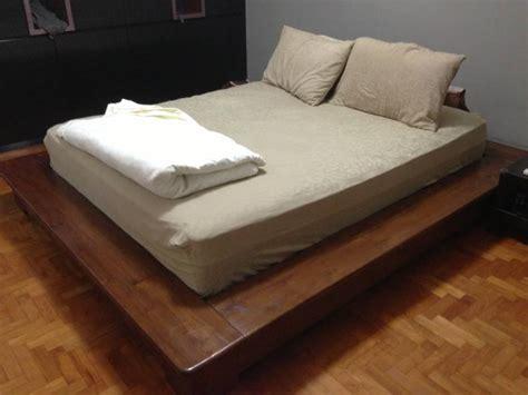 japanese platform bed closed style 4 door wadrobe platform bedframe side