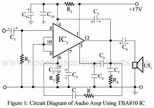 7w audio amplifier using tba810 best engineering projects With small ic amplifiers for speakers