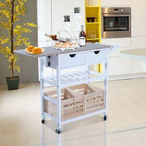 folding drop leaf kitchen island trolley cart storage