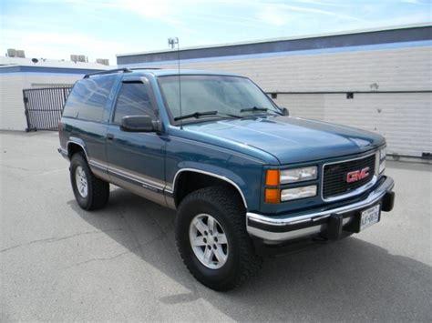 Gmc Yukon 1994 Blue  Green For Sale 1gkek18k7rj756447