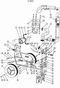 Pump  Vac Motor  Wheels And Chassis