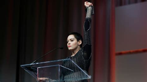 Rose McGowan makes powerful speech against sexual abusers ...