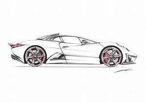 Nur Jaguar C-x75 Ghost Drawing by Nur Rahman