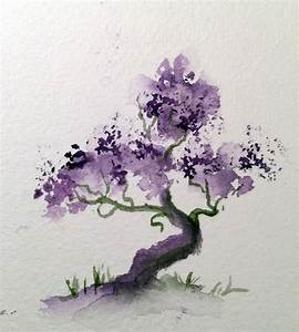 Easy Watercolor Paintings Of Trees To Pin On Pinterest